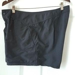 Lands' End Black Nylon Shorts Size 14